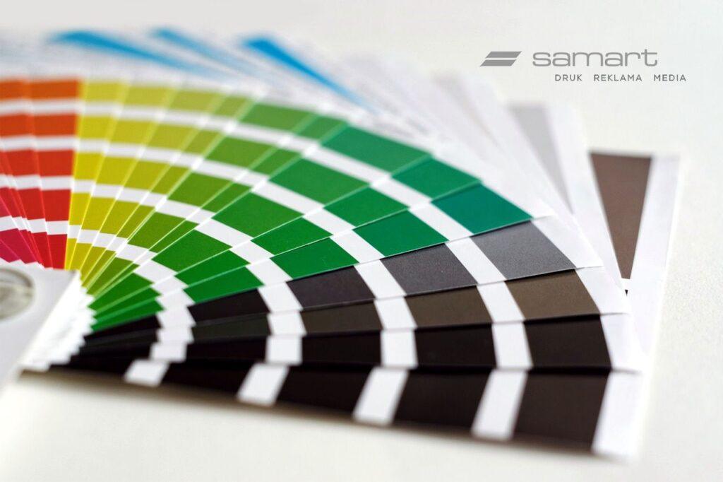 Paleta kolorystyczna w tonacji rozbarwienia CMYK