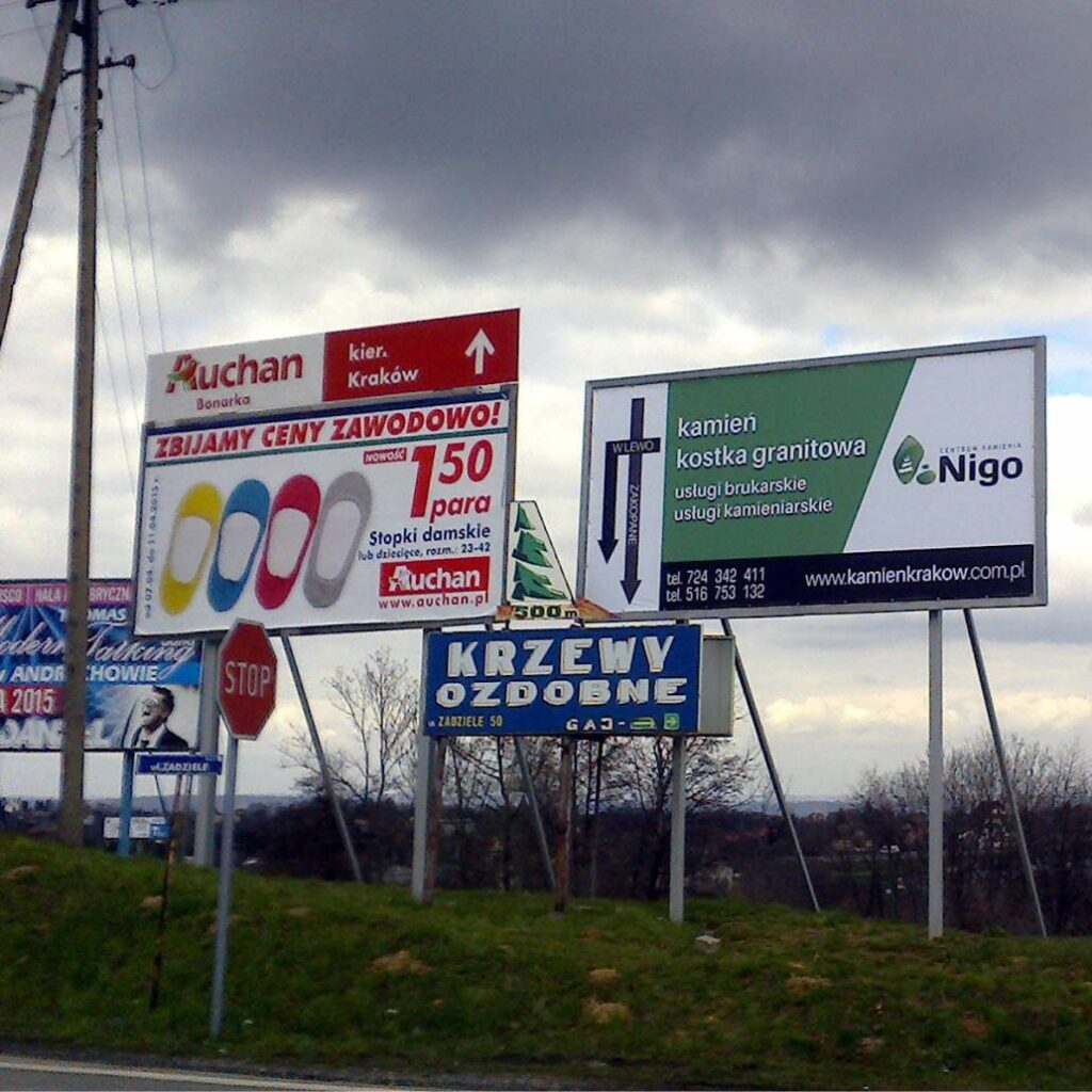 Tablice reklamowe - informacyjne