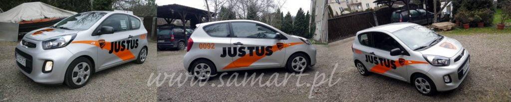 Reklama na samochód dla Firmy Justus Kraków