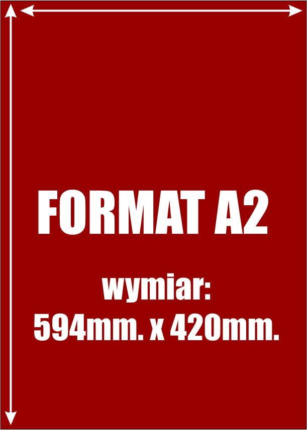 Wymiar arkusza A2 podany w milimetrach to 594mm x 420mm