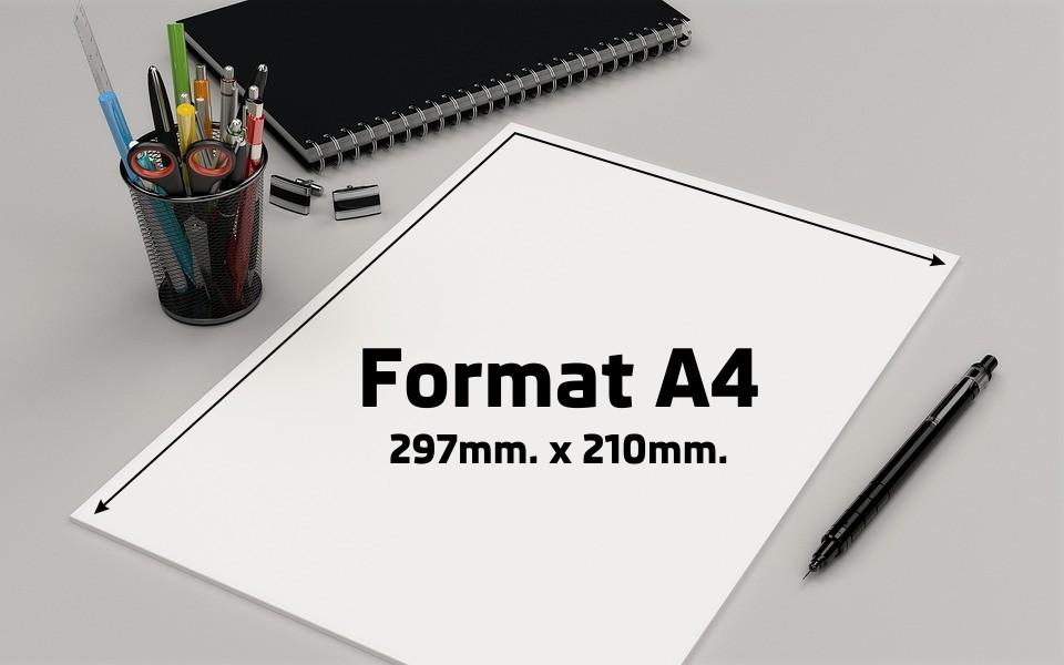 Format papieru A4 to wymiar 297 x 210mm