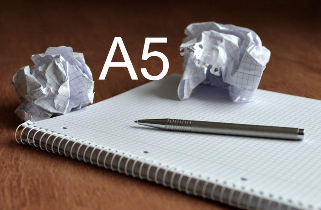 Rozmiary papieru formatu A5