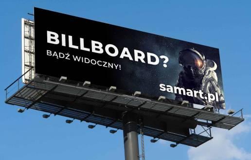 Produkcja - druk billboardów reklamowych - samart zaprasza