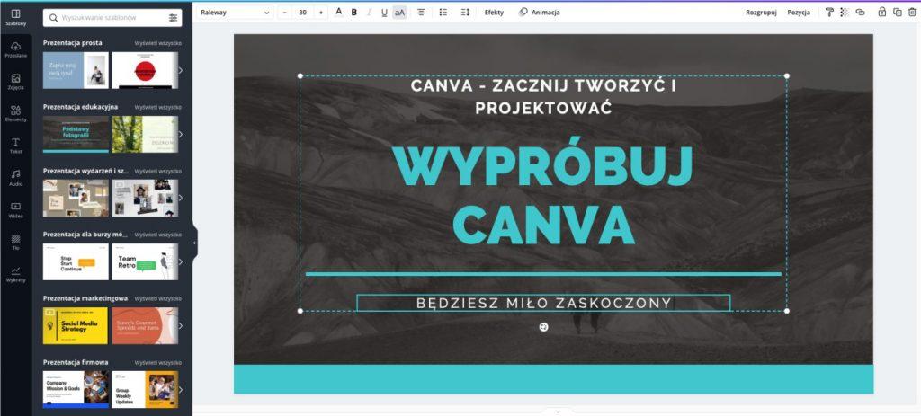 canva design - darmowa aplikacja online do projektowania