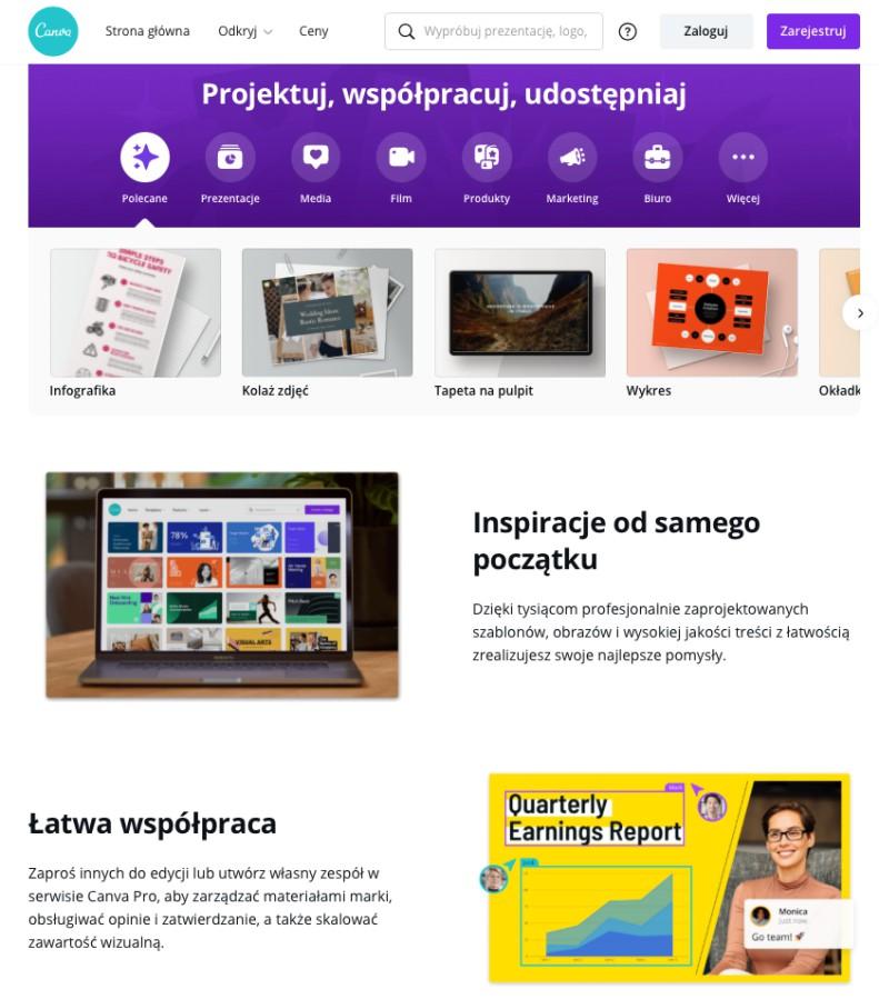 Projektuj, udostępniaj, zarabiaj z programem do projektowania CANVA