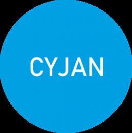 Oznaczenie koloru CYJAN - infografika