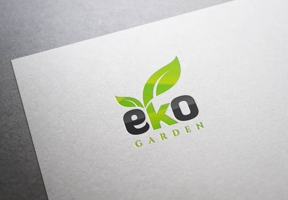 Logo dla EkoGarden w wersji wielobarwnej