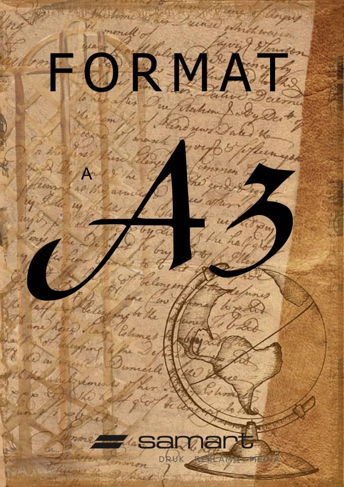 Wymiary formatu A3 w wersji pionowej