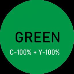 Kolor zielony -składowy kolor z palety cmyk