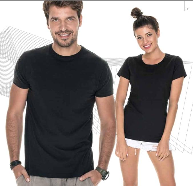 Czarne koszulki pod nadruk reklamowy - koszulki do nadruku