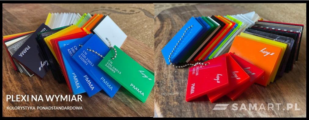 Dostępna kolorystyka PLEXI barwionej