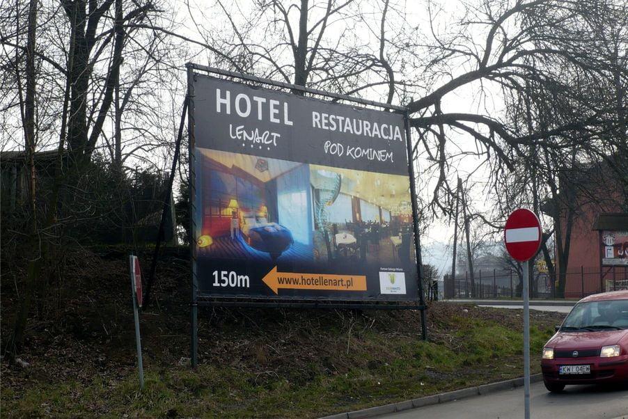 Baner odblaskowy dla Hotel Lenart Wieliczka