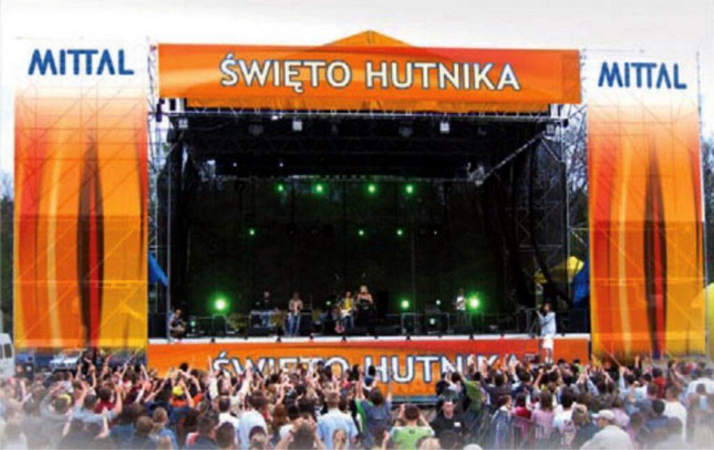 Banery eventowe - koncertowe - dźwiękoprzepuszczalne