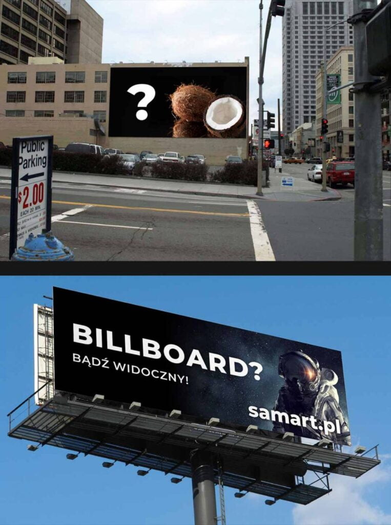 Usługi reklamowe - Billboardy - tablice drukowane w wielkim formacie