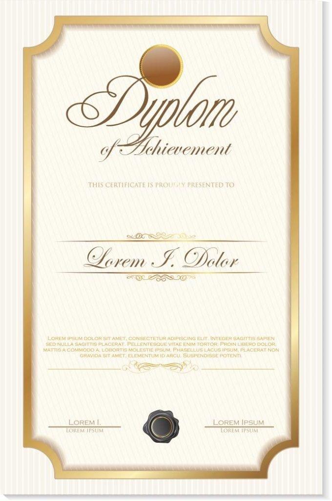 Drukujemy dyplomy w wersjach pionowych i poziomych