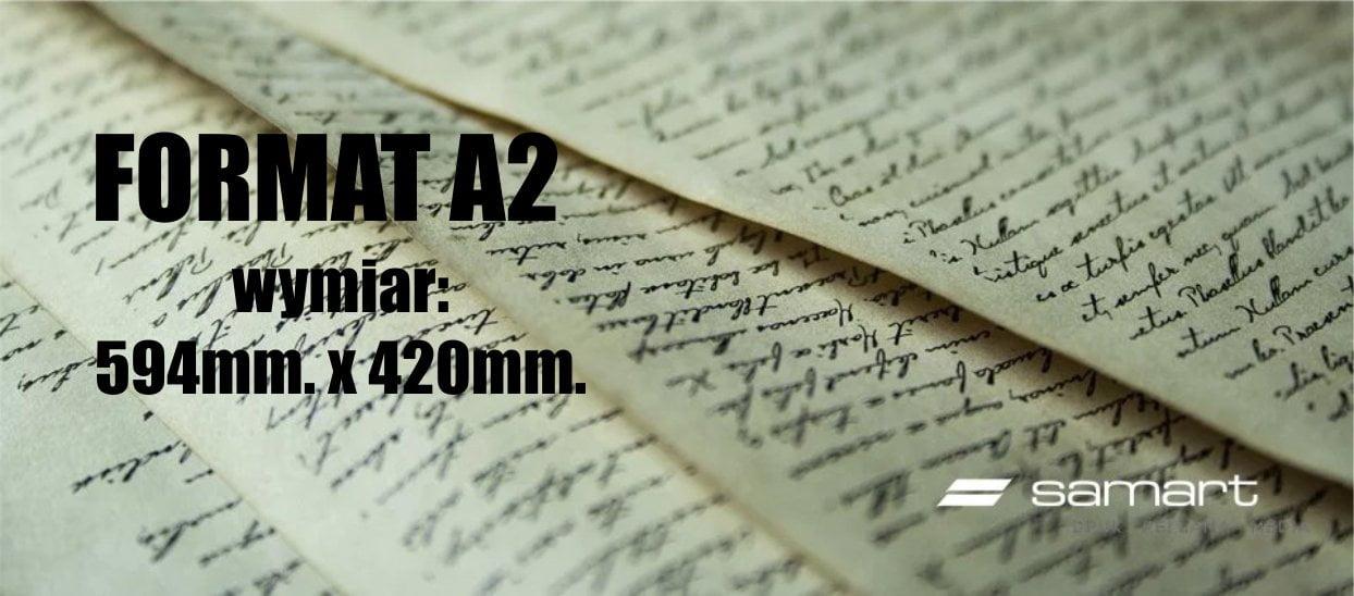 Jaki wymiar ma arkusz papieru formatu A2