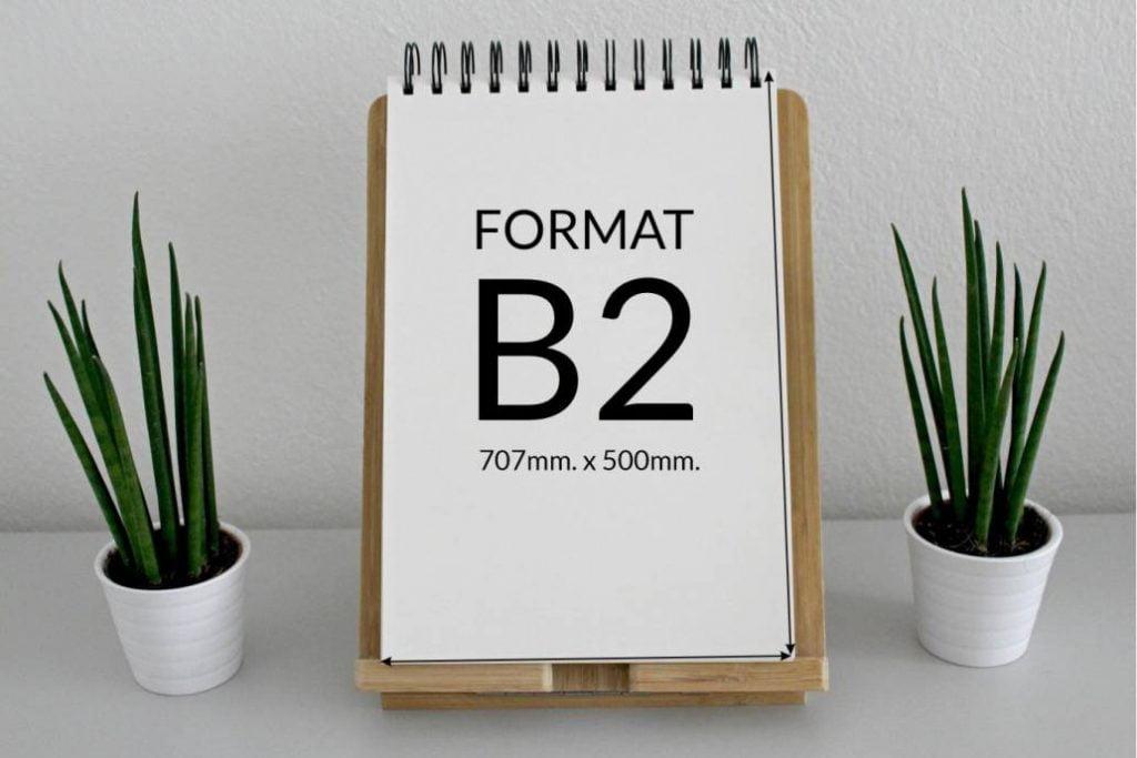 Jaki rozmiar ma arkusz drukarski formatu B2?