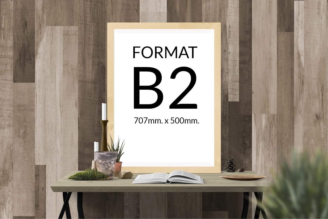 Wymiary formatu arkusza B2 - waga formatki B2