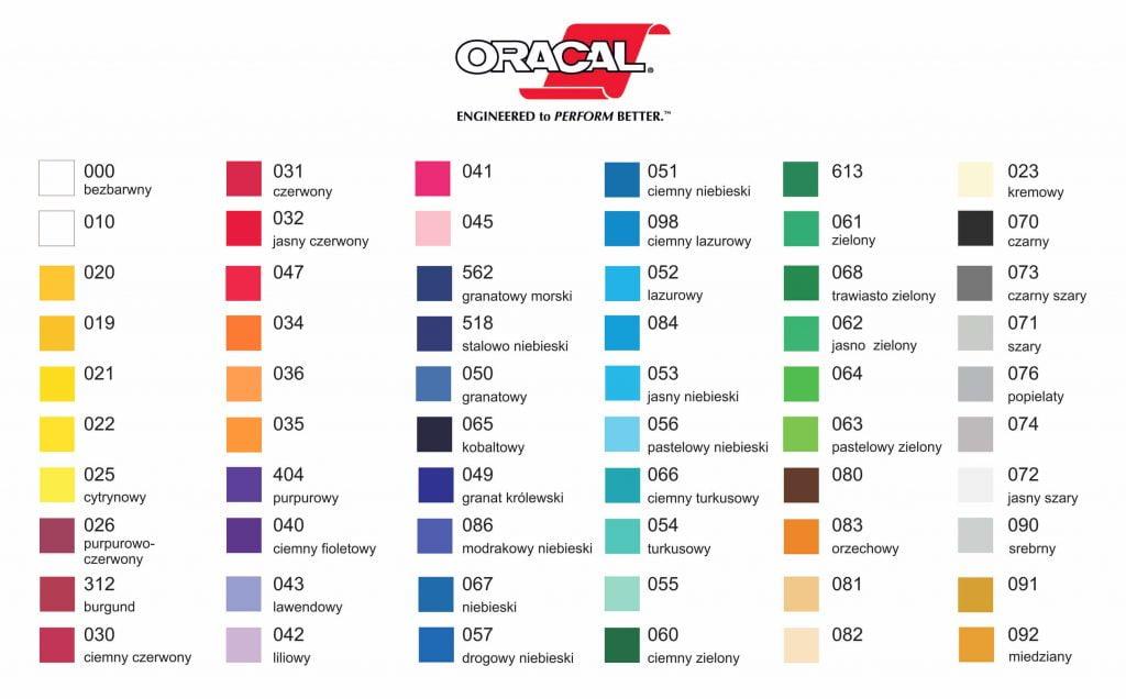 Naklejki na samochody - dostępne kolory