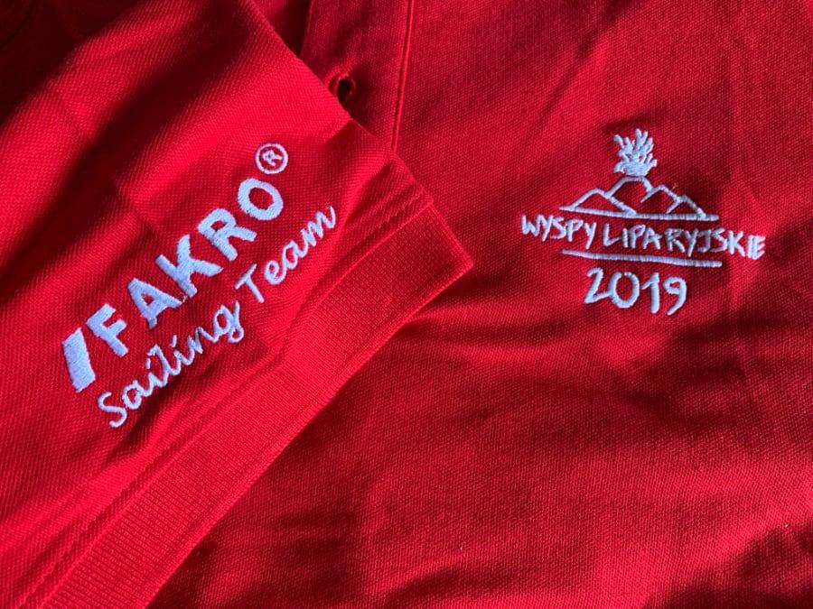 Koszulka czerwona polo z nadrukiem indywidualnym
