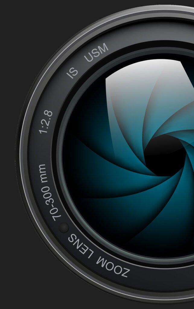 Fotografia reklamowa - obiektyw do aparatu - kamery