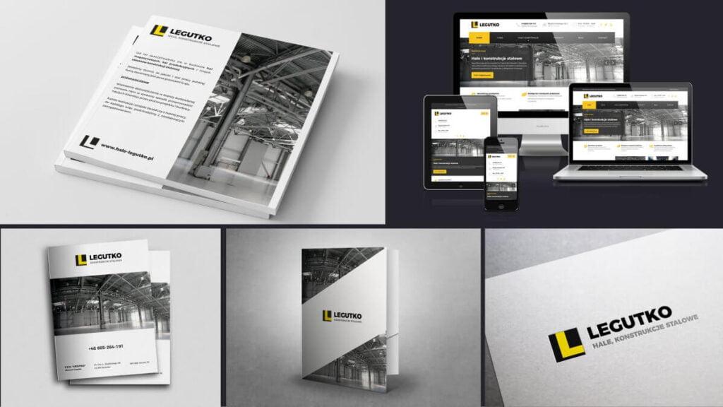 projekt logo, teczki, katalogu i strony internetowej dla firmy Legutko | realizacja samart.pl