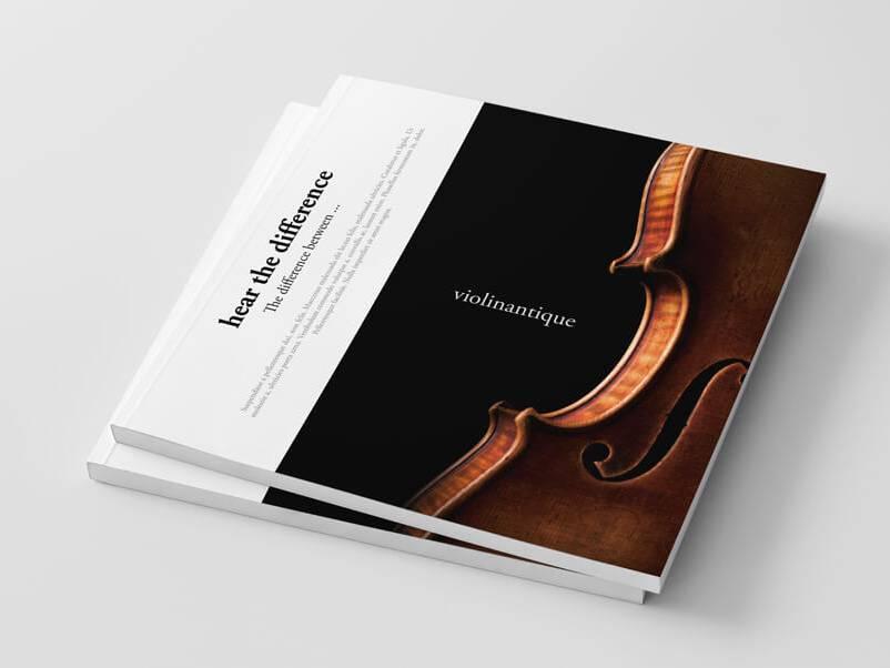 Projekt folderu reklamowego | skrzypce zdjęcia i projekt - samart.pl