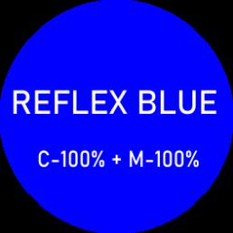 kolor ciemnoniebieski - reflex blue - składowa z palety CMYK