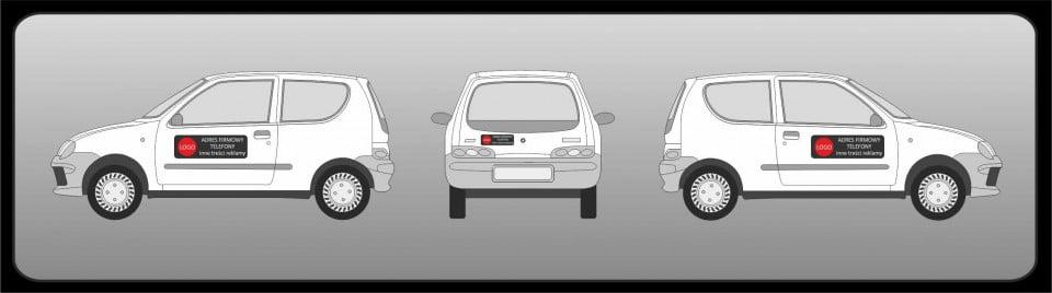 Magnetyczne naklejki reklamowe na samochód