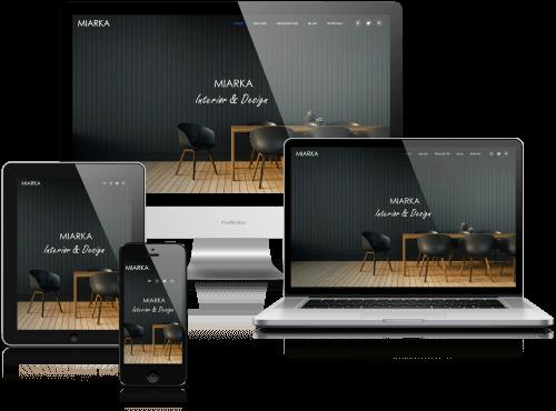 miarka.no - projekt i realizacja: SamArt | witryna dla dekoratora wnętrz architekta