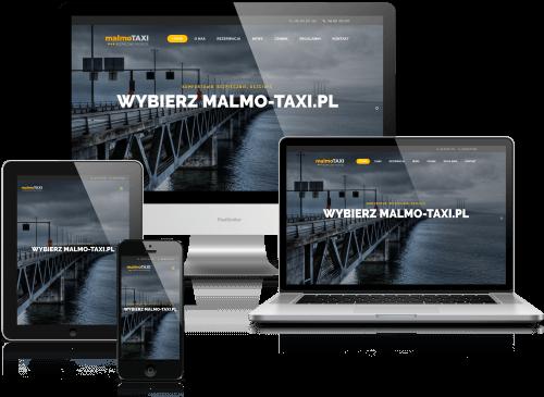 malmo-taxi.pl - projekt i realizacja: SamArt - witryna dla firmy taksówkarskiej