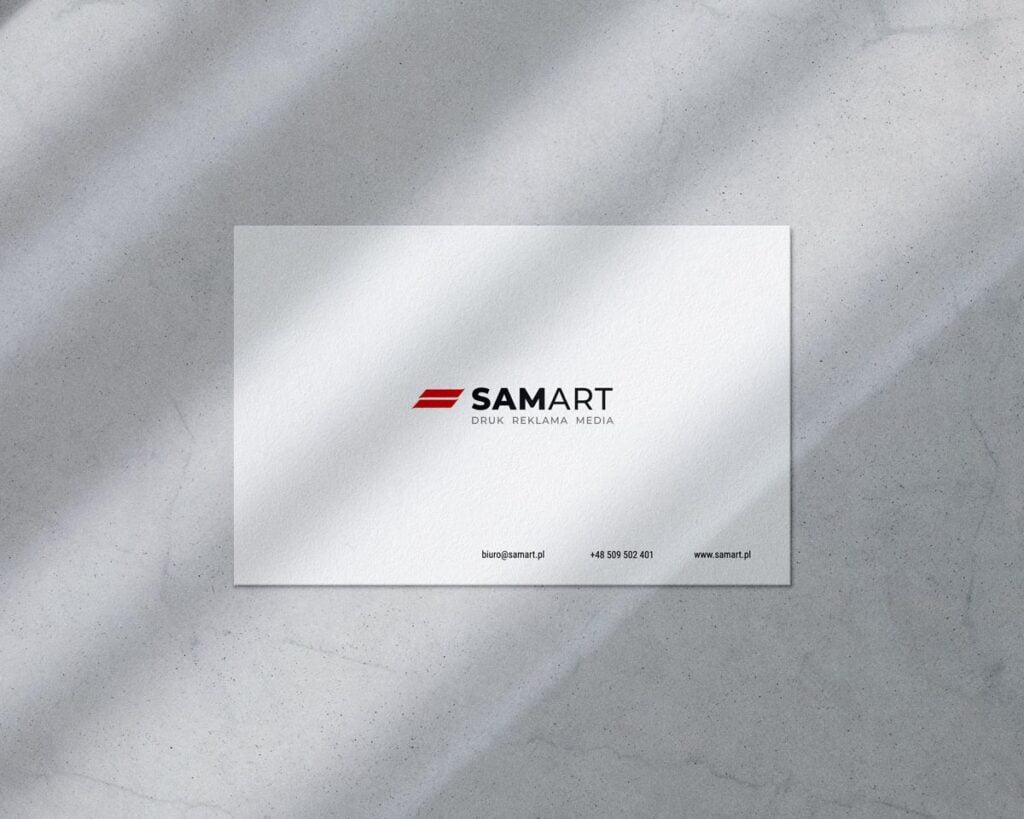 Wizytówka minimalistyczna w kolorystyce białej