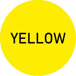 yellow- oznaczenie - infografika prezentująca kolor żółty (yellow)
