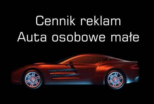 Cennik reklam na samochodach osobowych małych